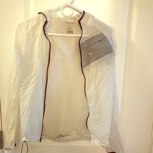 Nike women's white jacket dry fast size S